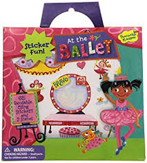 Peaceable Kingdom Sticker Fun! Ballet Reusable Sticker Tote