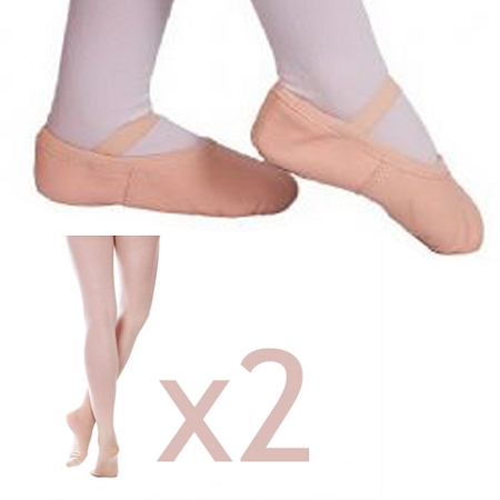 Ballet Basics Pack (Shoes and 2 Pairs of Tights)