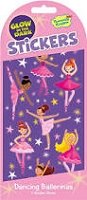 Peaceable Kingdom Glow in the Dark Sticker! Dancing Ballerinas