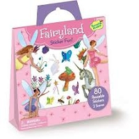 Peaceable Kingdom Sticker Fun! Fairyland Reusable Sticker Tote