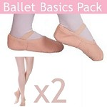 Ballet Basics Pack (Shoes and 2 Pairs of Tights) with Premium Shoes