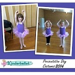 Ballet Costume - Purple with Flowers & Ribbons