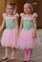 Ballet Costume - Green and Pink Dress