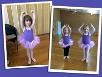Ballet Costume - Purple or Pink with Flowers & Ribbons